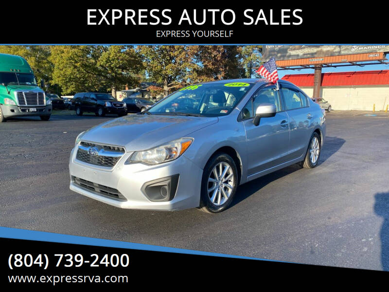 2014 Subaru Impreza for sale at EXPRESS AUTO SALES in Midlothian VA