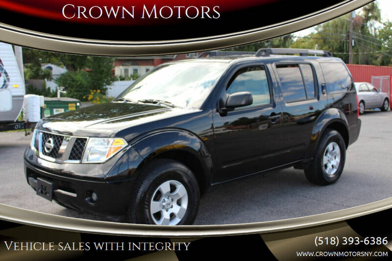 2007 Nissan Pathfinder for sale at Crown Motors in Schenectady NY