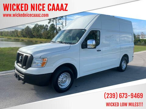 2015 Nissan NV Cargo for sale at WICKED NICE CAAAZ in Cape Coral FL