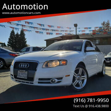 2007 Audi A4 for sale at Automotion in Roseville CA
