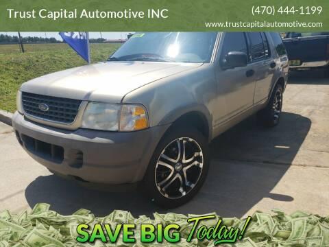 2002 Ford Explorer for sale at Trust Capital Automotive Inc. in Covington GA