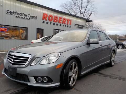2010 Mercedes-Benz E-Class for sale at Roberti Automotive in Kingston NY