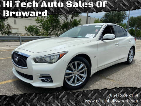 2017 Infiniti Q50 for sale at Hi Tech Auto Sales Of Broward in Hollywood FL
