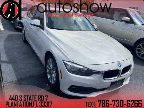 2017 BMW 3 Series for sale at AUTOSHOW SALES & SERVICE in Plantation FL