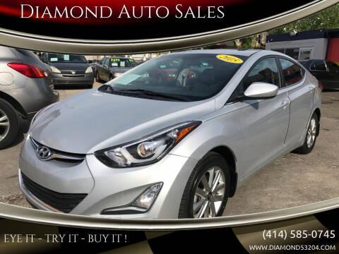 2015 Hyundai Elantra for sale at Diamond Auto Sales in Milwaukee WI