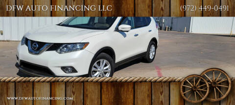 2015 Nissan Rogue for sale at DFW AUTO FINANCING LLC in Dallas TX