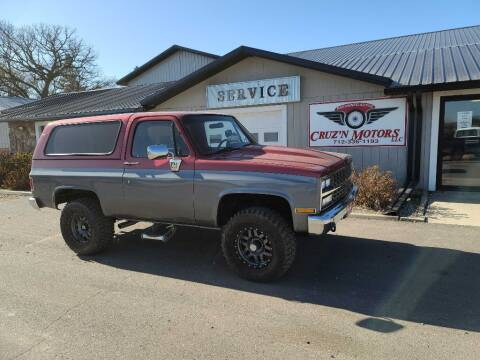 1990 Chevrolet Blazer for sale at CRUZ'N MOTORS - Classics in Spirit Lake IA