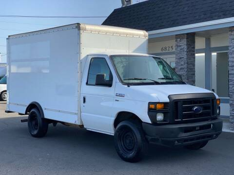2013 Ford E-350 Box Truck Cargo Van for sale at Lux Motors in Tacoma WA