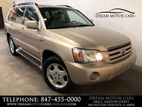2004 Toyota Highlander for sale at Dream Motor Cars in Arlington Heights IL
