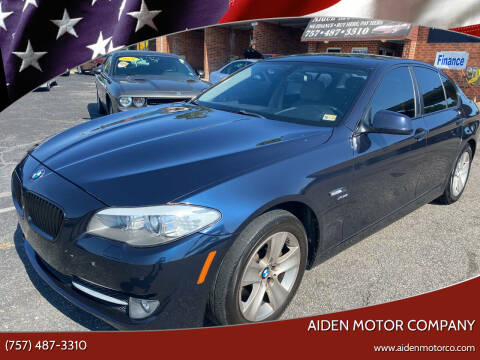 2012 BMW 5 Series for sale at Aiden Motor Company in Portsmouth VA