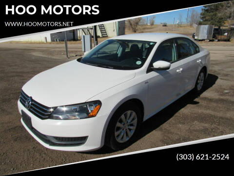 2015 Volkswagen Passat for sale at HOO MOTORS in Kiowa CO