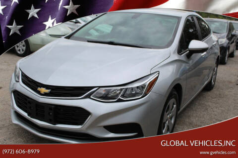 2017 Chevrolet Cruze for sale at Global Vehicles,Inc in Irving TX