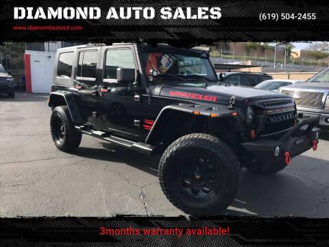 2008 Jeep Wrangler Unlimited for sale at DIAMOND AUTO SALES in El Cajon CA