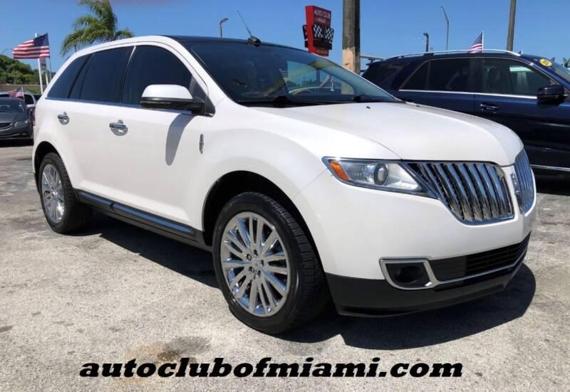 2012 Lincoln MKX for sale at AUTO CLUB OF MIAMI in Miami FL