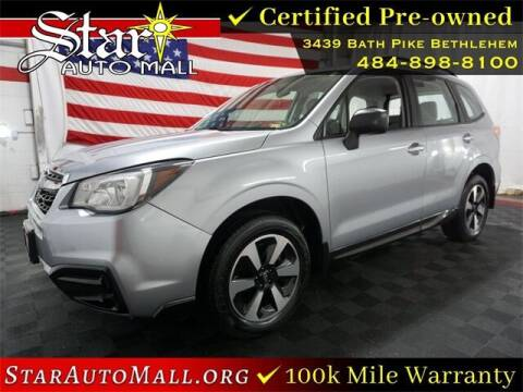 2018 Subaru Forester for sale at STAR AUTO MALL 512 in Bethlehem PA