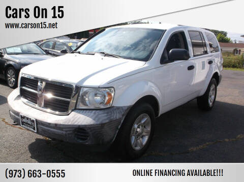 2008 Dodge Durango for sale at Cars On 15 in Lake Hopatcong NJ