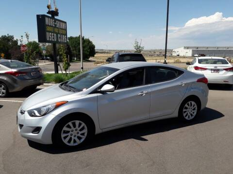 2013 Hyundai Elantra for sale at More-Skinny Used Cars in Pueblo CO