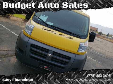 2016 RAM ProMaster Cargo for sale at Budget Auto Sales in Carson City NV