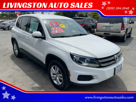 2013 Volkswagen Tiguan for sale at LIVINGSTON AUTO SALES in Livingston CA
