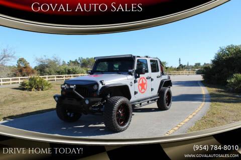 2007 Jeep Wrangler Unlimited for sale at Goval Auto Sales in Pompano Beach FL