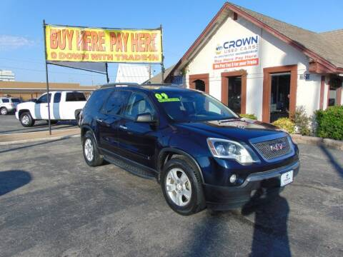 2009 GMC Acadia for sale at Crown Used Cars in Oklahoma City OK