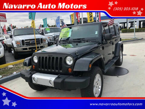 2012 Jeep Wrangler Unlimited for sale at Navarro Auto Motors in Hialeah FL