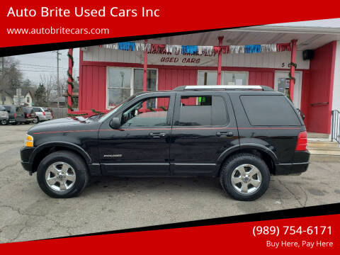 2005 Ford Explorer for sale at Auto Brite Used Cars Inc in Saginaw MI
