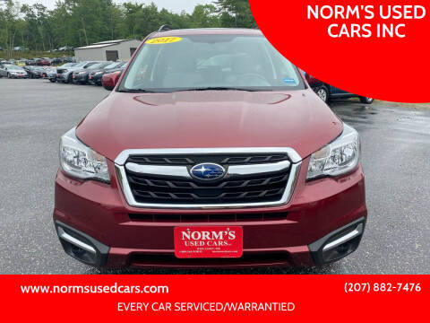 2017 Subaru Forester for sale at NORM'S USED CARS INC in Wiscasset ME