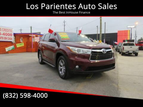 2015 Toyota Highlander for sale at Los Parientes Auto Sales in Houston TX