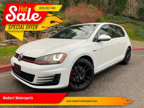 2015 Volkswagen Golf GTI for sale at Mudarri Motorsports in Kirkland WA