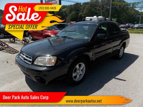 2005 Subaru Baja for sale at Deer Park Auto Sales Corp in Newport News VA