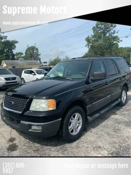 2004 Ford Expedition for sale at Supreme Motors in Tavares FL