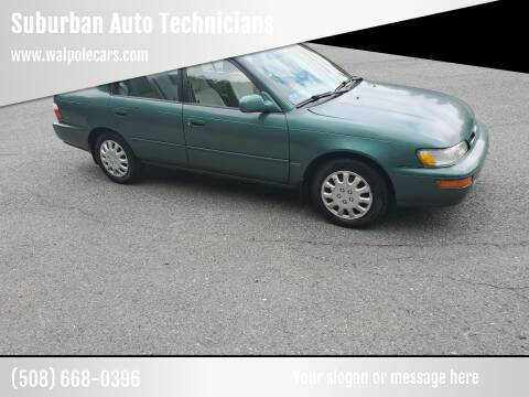 1996 Toyota Corolla for sale at Suburban Auto Technicians in Walpole MA