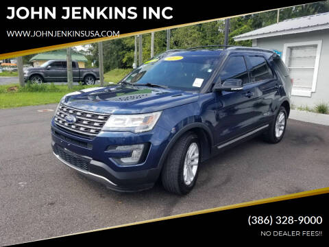 2017 Ford Explorer for sale at JOHN JENKINS INC in Palatka FL