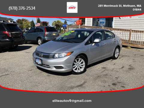 2012 Honda Civic for sale at ELITE AUTO SALES, INC in Methuen MA