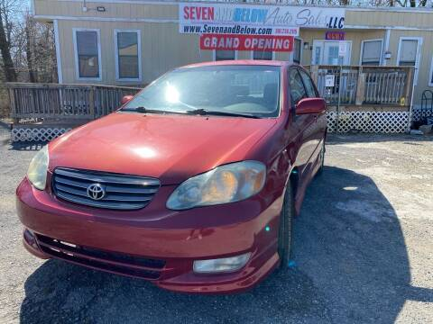 2003 Toyota Corolla for sale at Seven and Below Auto Sales, LLC in Rockville MD