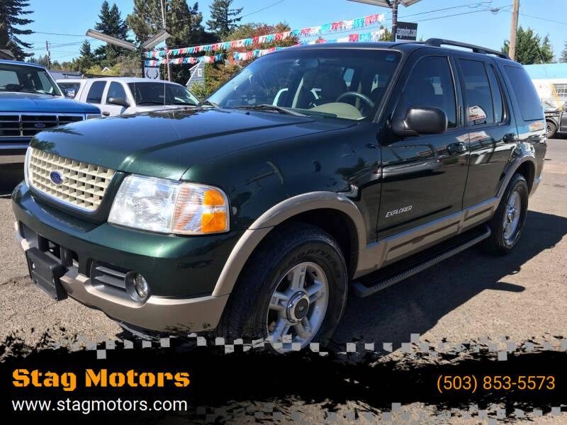 2002 Ford Explorer for sale at Stag Motors in Portland OR