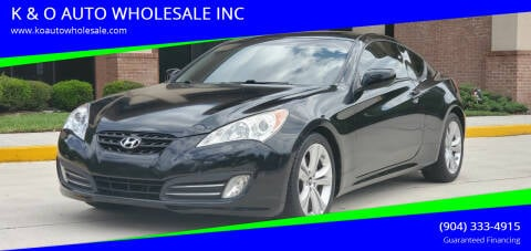 2010 Hyundai Genesis Coupe for sale at K & O AUTO WHOLESALE INC in Jacksonville FL