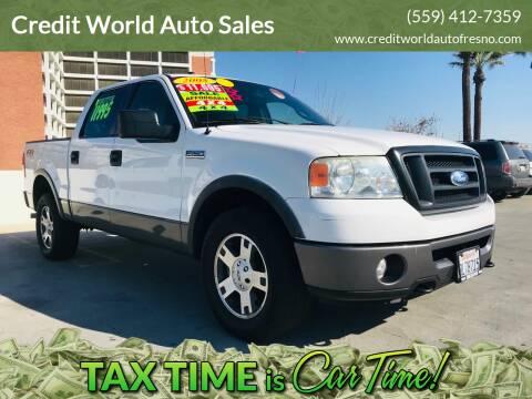 2008 Ford F-150 for sale at Credit World Auto Sales in Fresno CA