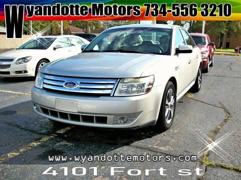 2008 Ford Taurus for sale at Wyandotte Motors in Wyandotte MI