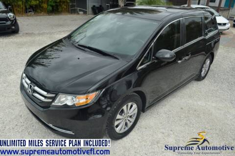 2015 Honda Odyssey for sale at Supreme Automotive in Land O Lakes FL
