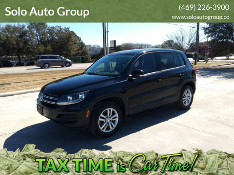 2013 Volkswagen Tiguan for sale at Solo Auto Group in Mckinney TX