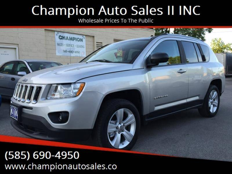 2012 Jeep Compass for sale at Champion Auto Sales II INC in Rochester NY
