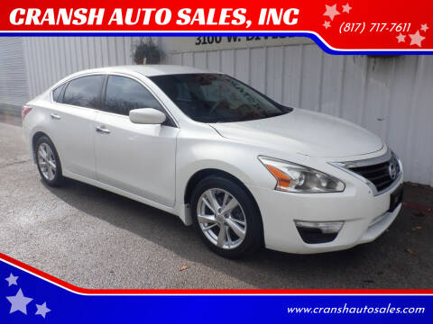 2013 Nissan Altima for sale at CRANSH AUTO SALES, INC in Arlington TX
