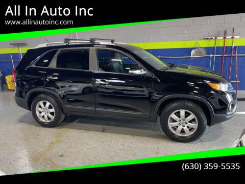 2013 Kia Sorento for sale at All In Auto Inc in Addison IL