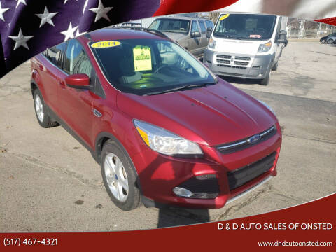 2014 Ford Escape for sale at D & D Auto Sales Of Onsted in Onsted   Brooklyn MI