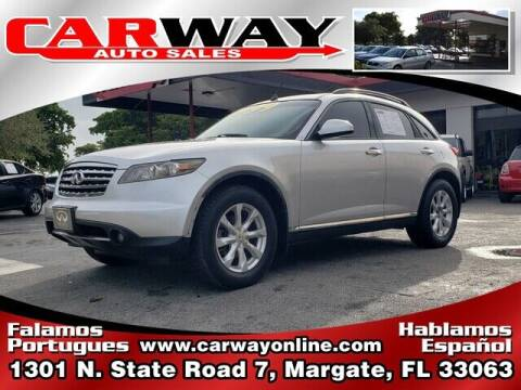 2006 Infiniti FX35 for sale at CARWAY Auto Sales in Margate FL