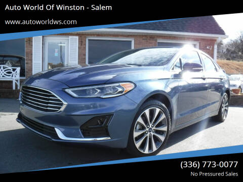 2019 Ford Fusion for sale at Auto World Of Winston - Salem in Winston Salem NC