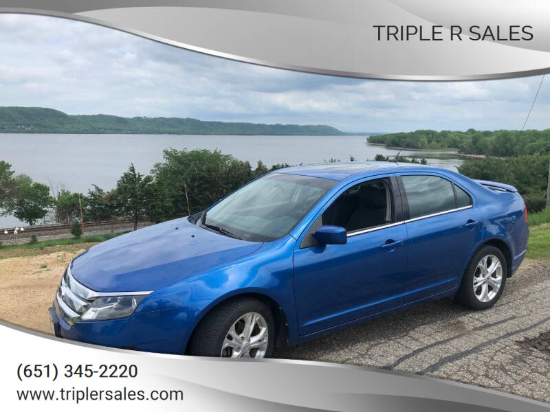 2012 Ford Fusion for sale at Triple R Sales in Lake City MN