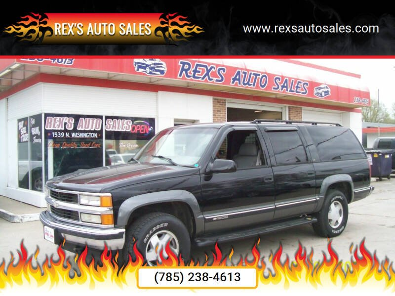 1999 Chevrolet Suburban for sale at Rex's Auto Sales in Junction City KS